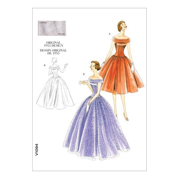 Kleid - Vintage 1955, Vogue 1094 | 40 - 46 - Schnittmuster Kleid ...