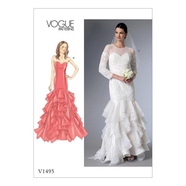 Brautkleid, Vogue 1495 | 40 - 48 - Schnittmuster Brautkleid- stoffe.de