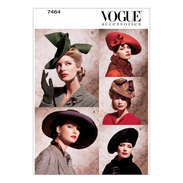Vintage Hats In Five Styles 1930s Vogue 7464