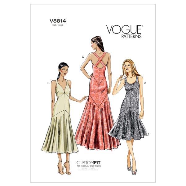 Abendkleid, Vogue 8814 | 40 - 48 - Schnittmuster Abendmode- stoffe.de