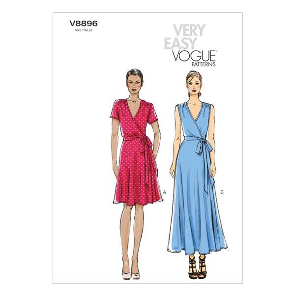 Wickelkleid, Vogue 8896 | 42 - 50 - Schnittmuster Kleid- stoffe.de