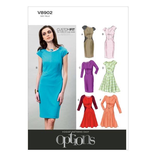 Kleider, Vogue 8902 | 32 - 40 - Schnittmuster Kleid- stoffe.de