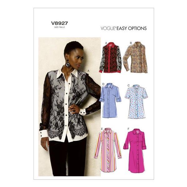 Bluse, Vogue V8927