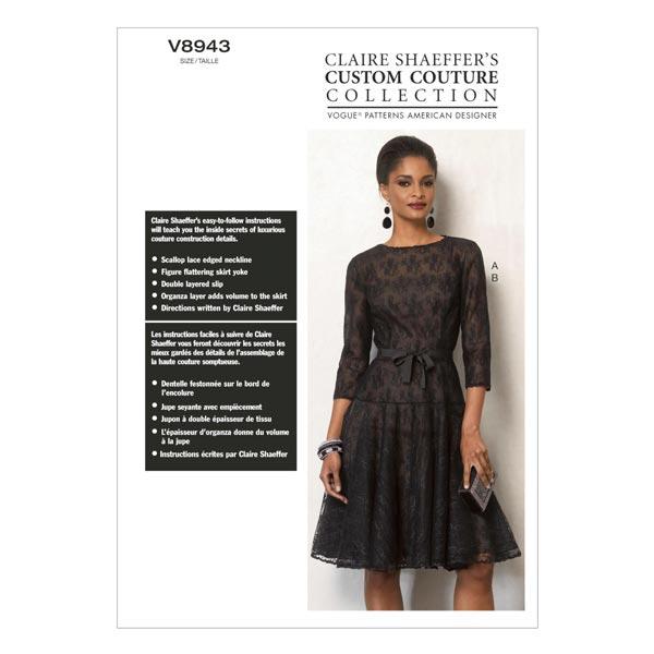 Kleid/Unterkleid by Claire Shaeffer´s, Vogue 8943 - Schnittmuster ...