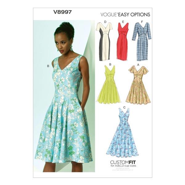 Kleider, Vogue 8997 | 40 - 48 - Schnittmuster Kleid- stoffe.de