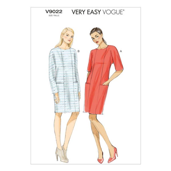 Kleid, Vogue V9022 - Schnittmuster Kleid- stoffe.de