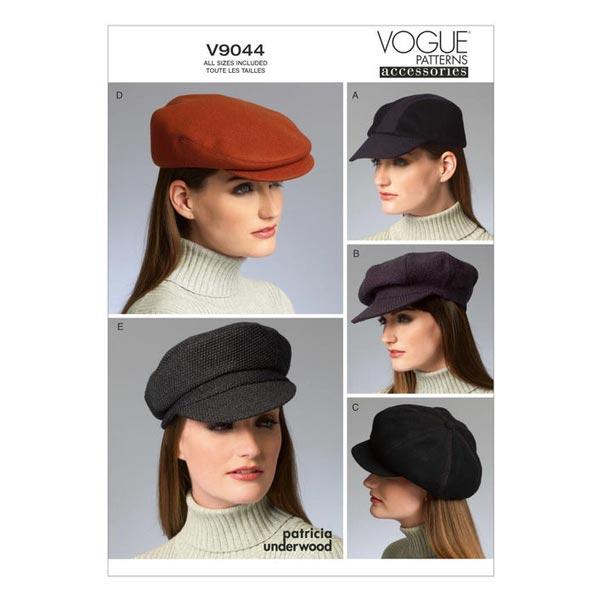 Hüte, Patricia Underwood V9044 - Schnittmuster Accessoires- stoffe.de