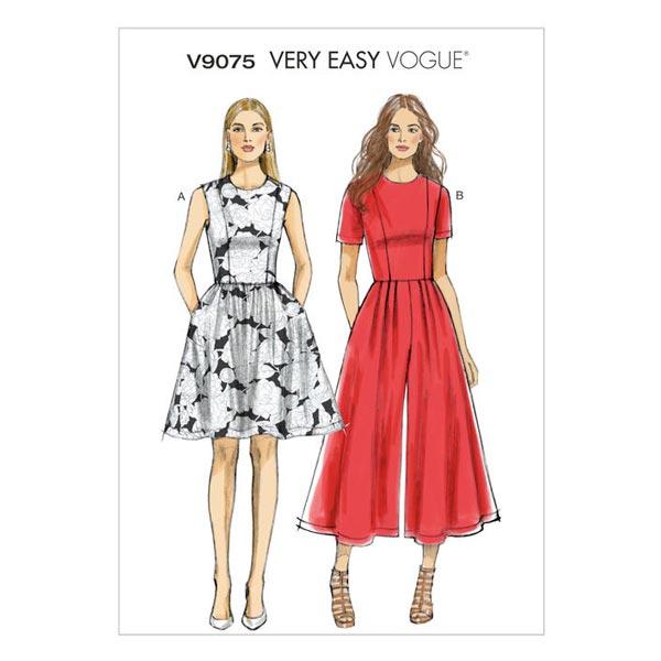 Kleid / Jumpsuit, Vogue V9075 - Schnittmuster Kleid- stoffe.de