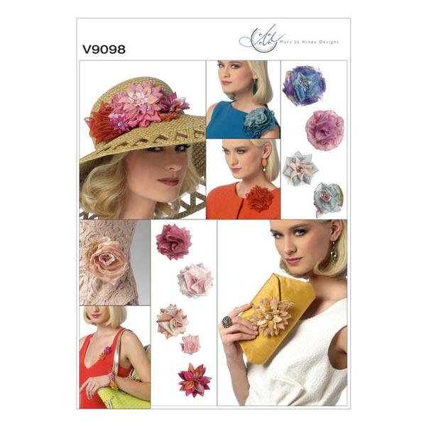 Blumen / Clutch, Vogue V9098 - Schnittmuster Accessoires- stoffe.de