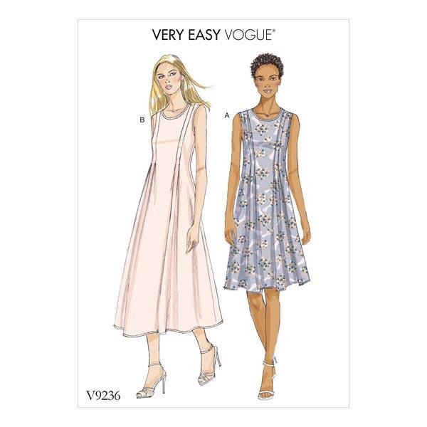 Kleid, Vogue 9236 | 40 - 48 - Schnittmuster Kleid- stoffe.de