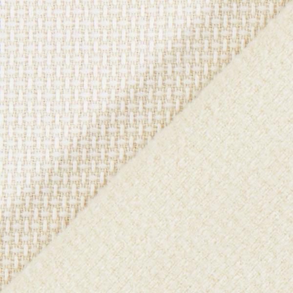 Tissu de rideau thermique double cr me tissus pour coussins et plaids - Tissu thermique pour rideau ...