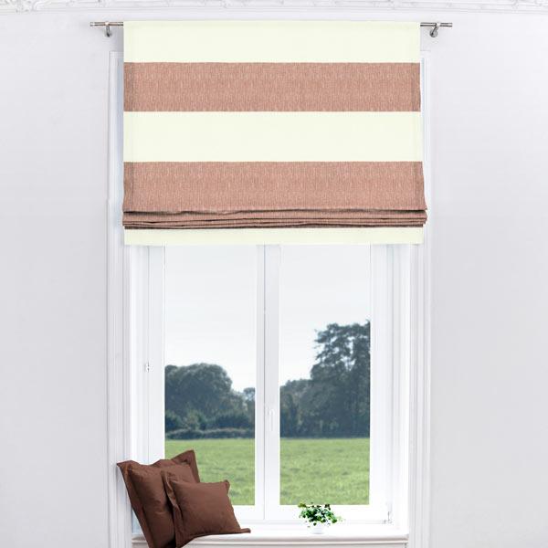 Tessuto per tende strisce oblique rosso tessuti arredo - Tende per finestre oblique ...