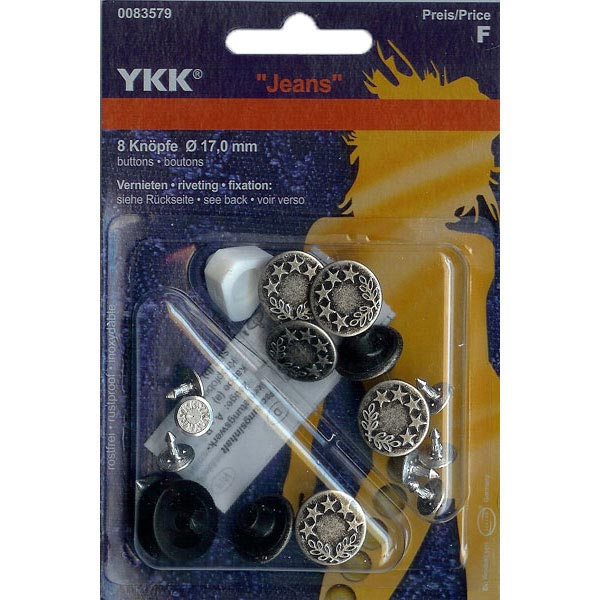 7fbab01b Jeans button Laurel wreath 3 – silver | YKK - Bachelor Buttonsfavorable  buying at our shop