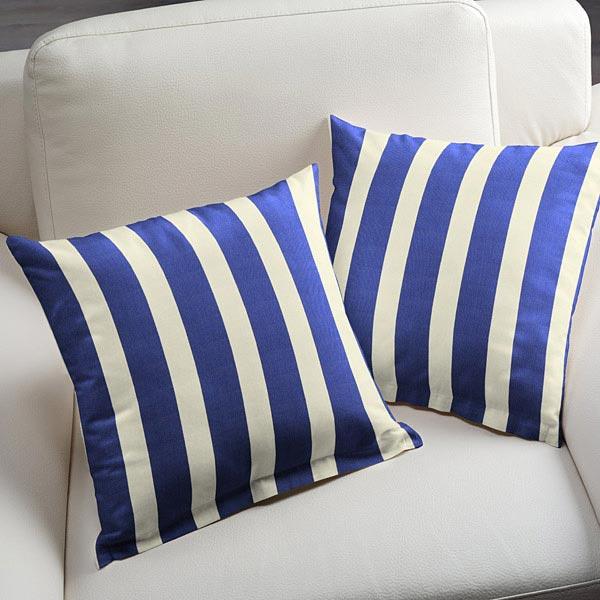 tissu de d coration d ext rieur acrisol listado cru bleu roi tissus pour ext rieur. Black Bedroom Furniture Sets. Home Design Ideas