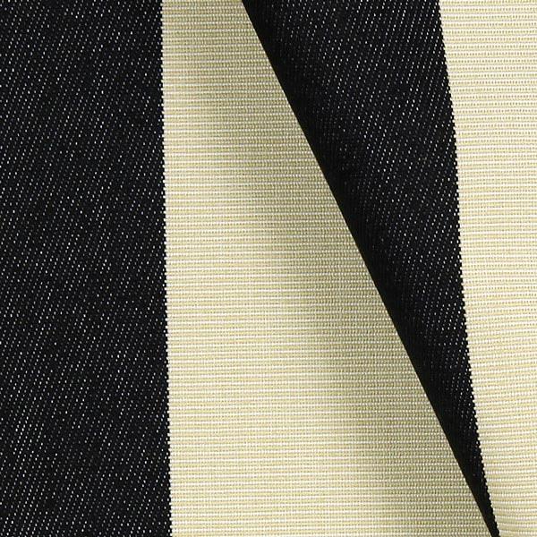 tissu de d coration d ext rieur acrisol malibu noir cr me tissus pour ext rieur. Black Bedroom Furniture Sets. Home Design Ideas