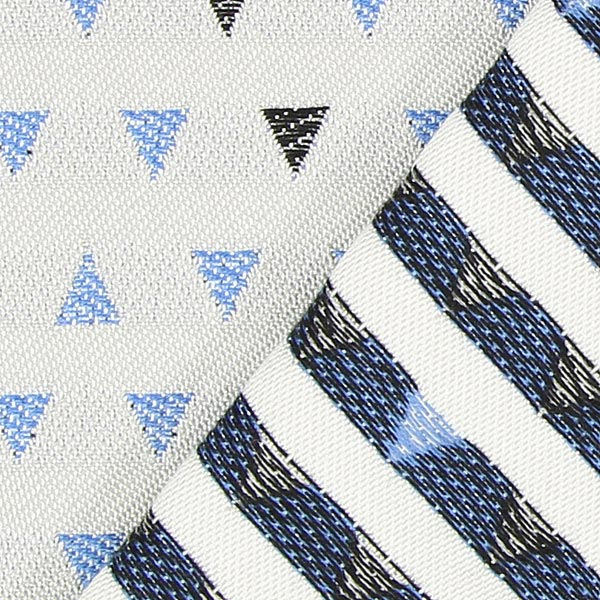 Tissu de d coration d ext rieur agora trian gris bleu for Agora decoration