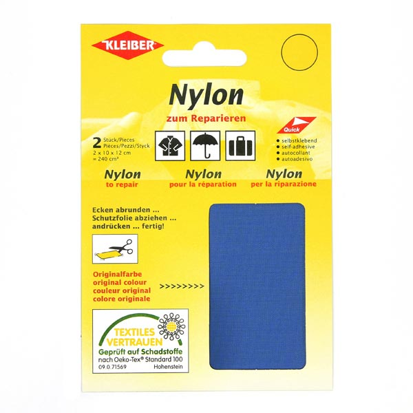 Nylon Patch noir reparation adhesive impermeables Patch