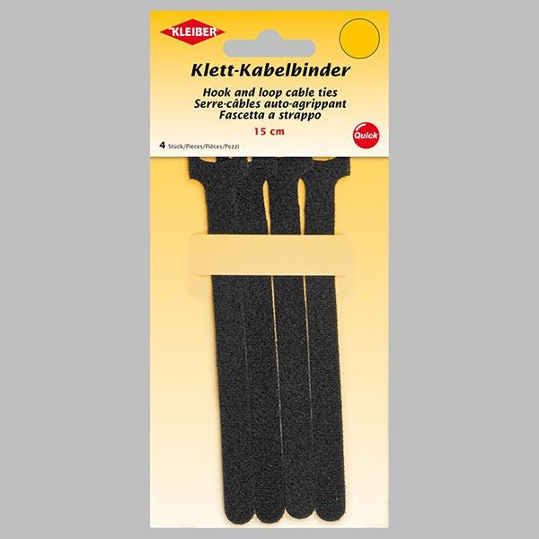 klittenband kabelbinder 15 cm 2 zwart kleiber klittenband. Black Bedroom Furniture Sets. Home Design Ideas