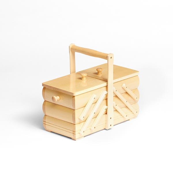 Houten naaidoosje 2 natuur kleiber naaidoos - Badkamer natuur hout ...