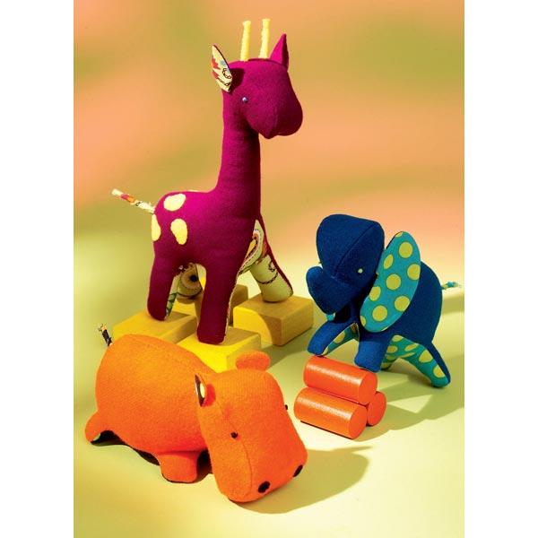 stofftiere elefant giraffe nilpferd kwiksew0116. Black Bedroom Furniture Sets. Home Design Ideas