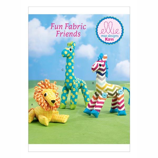 Stofftiere Löwe / Giraffe, KwikSew 0211 - Schnittmuster Baby & Kind ...