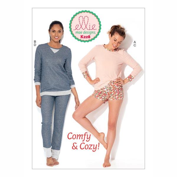 Schlafanzug - Shorts | Shirt | Hose, KwikSew 0228 | XS - XL ...