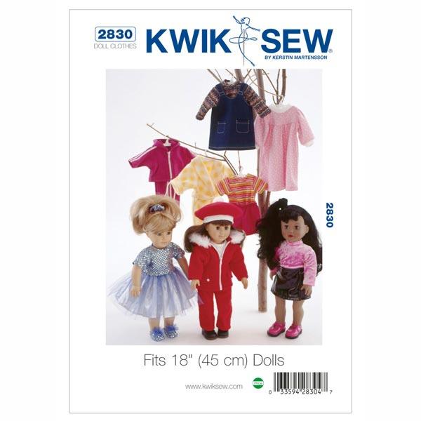 Puppenkleidung (für 45 cm Puppen), KwikSew 2830 - Schnittmuster ...