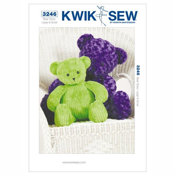 Teddybär, KwikSew 3246 - Schnittmuster Baby & Kind Accessoires ...