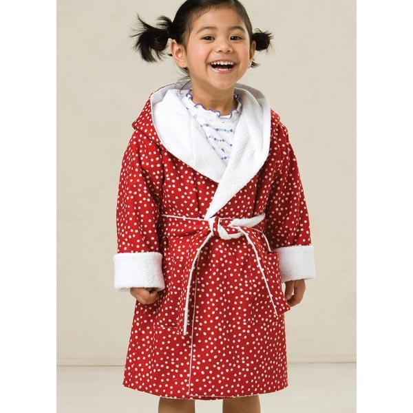 peignoir pour enfants kwiksew 3509 patrons de couture enfant bas ge. Black Bedroom Furniture Sets. Home Design Ideas