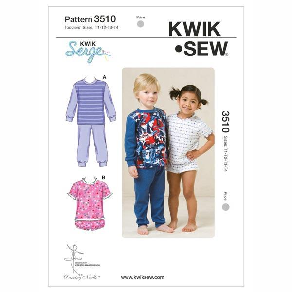 Pyjama für Kinder, KwikSew 3510 | 80 - 104 - Schnittmuster Kleinkind ...