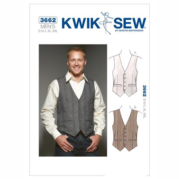 Chaleco de hombre, KwikSew 3662 - Patrones de corte Accesorios- telas.es