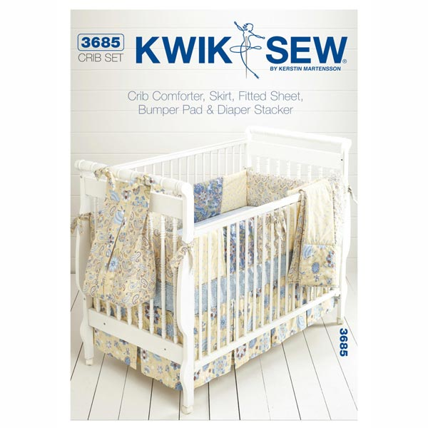 babybettchen zubeh r kwiksew 3685 schnittmuster baby. Black Bedroom Furniture Sets. Home Design Ideas