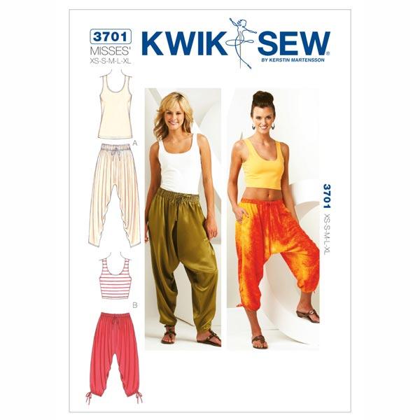 Hose | Shirt, KwikSew 3701 | XS - XL - Schnittmuster Hose- stoffe.de