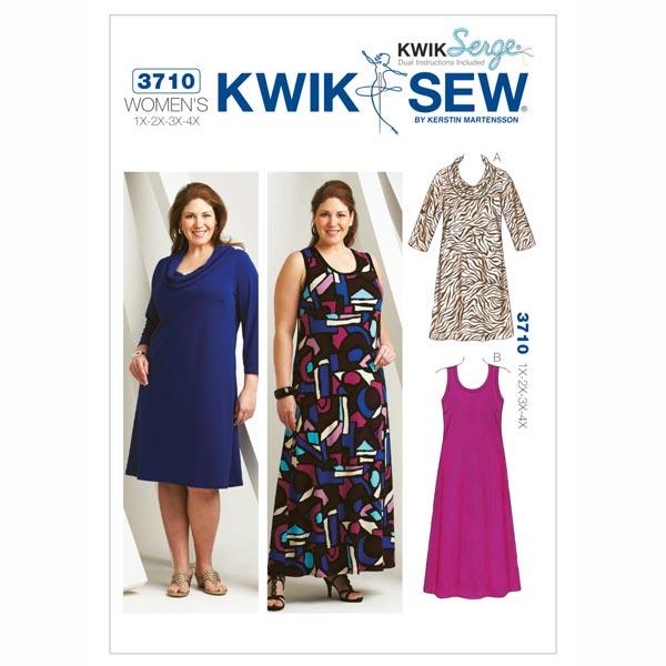 Plus Size – Kleid, KwikSew 3710 | XL - 4XL - Schnittmuster Plus Size ...