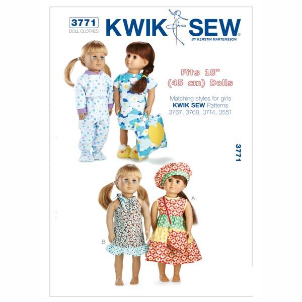 Puppenkleider, KwikSew 3771 - Schnittmuster Puppenkleider- stoffe.de