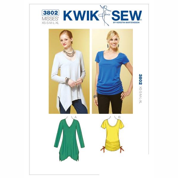 Top | Shirt, KwikSew 3802 | XS - XL - Schnittmuster Tops & Blusen ...