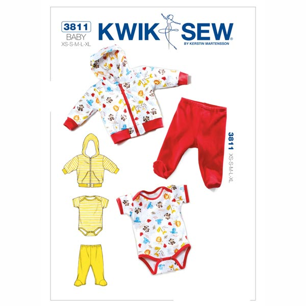 Babyjacke | Hose | Strampler, KwikSew 3811 | 56 - 80 - Schnittmuster ...