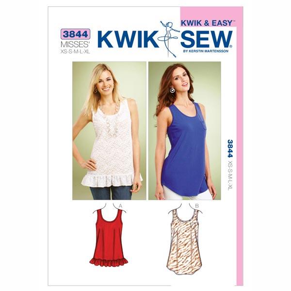 Longshirts, KwikSew 3844 - Schnittmuster Tops & Blusen- stoffe.de