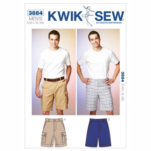 Shorts para hombre, KwikSew 3884 - Patrones de corte Accesorios ...