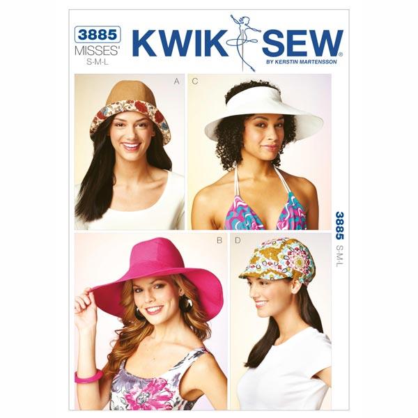 Hüte, KwikSew 3885 | S - L - Schnittmuster Accessoires- stoffe.de