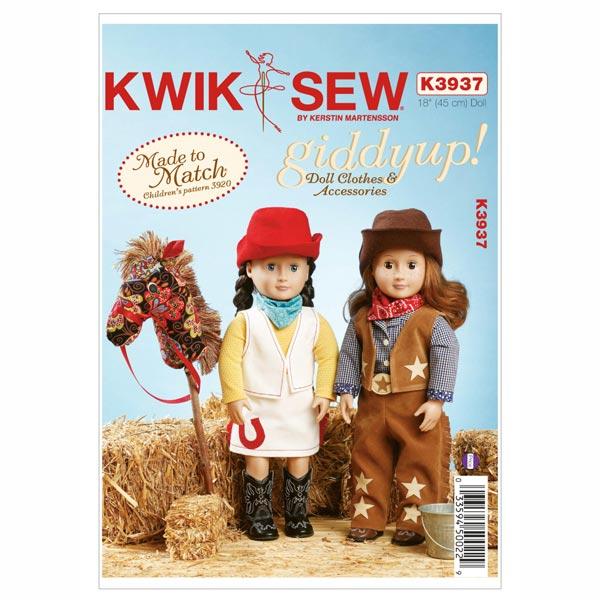 Puppenkleider 'Western' mit Steckenpferd von Kwik Sew