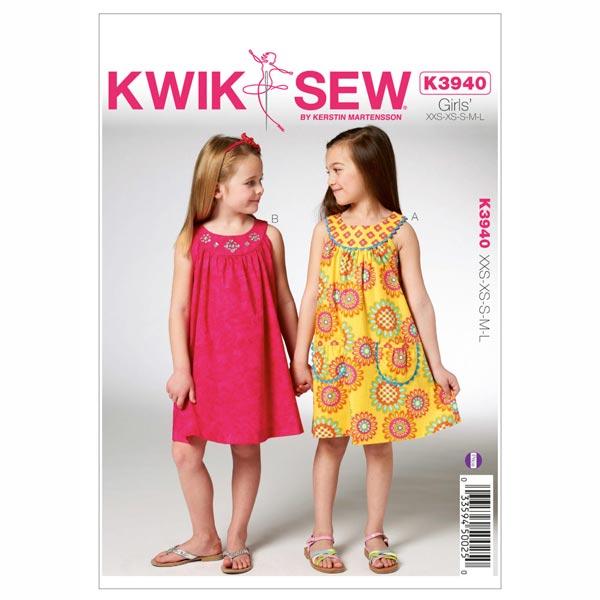 Kleid für Mädchen, KwikSew 3940 | 98 - 140 - Schnittmuster Kleinkind ...