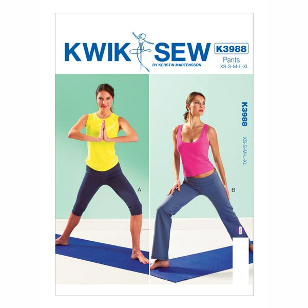 Yogahose, KwikSew 3988 | XS - XL - Schnittmuster Sportbekleidung ...