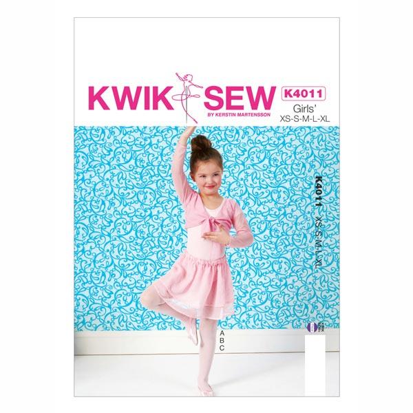 Ballerina Kleid, KwikSew 4011 | 104 - 152 - Schnittmuster Kleinkind ...