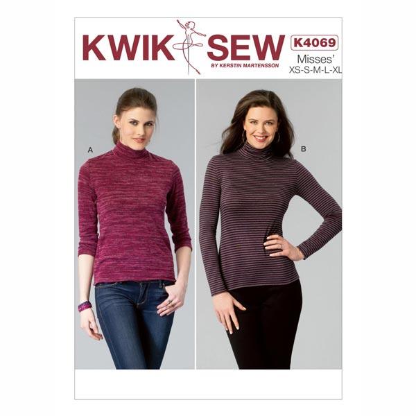 Rollkragenpullover, KwikSew 4069 | XS - XL - Schnittmuster Kleid ...