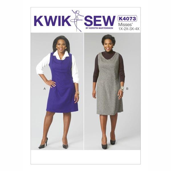 Damenkleider, KwikSew 4073 | XL - 4XL - Schnittmuster Kleid- stoffe.de