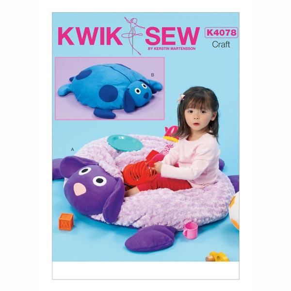 spieldecke kwiksew 4078 schnittmuster baby kind. Black Bedroom Furniture Sets. Home Design Ideas