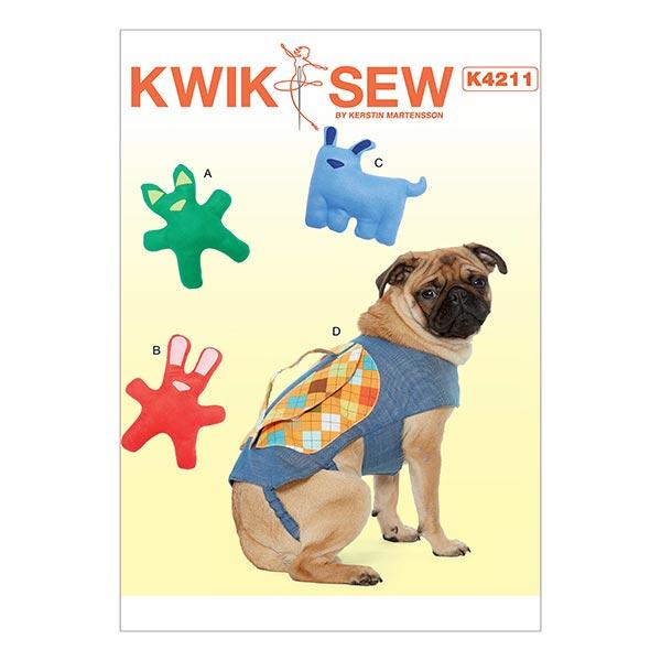 Hunde-Spielzeug und Rucksack, KwikSew 4211 - Schnittmuster ...