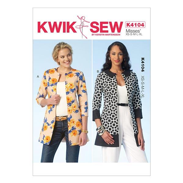 Jacken, KwikSew 4104 | XS - XL - Schnittmuster Kleid- stoffe.de