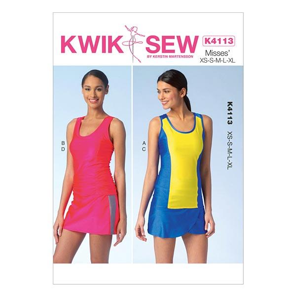 Tops | Skorts, KwikSew 4113 | XS - XL - Schnittmuster Kleid- stoffe.de